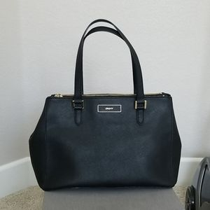 DKNY Saffiano Leather too handle black bag